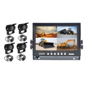 9 Inch car rearview camera system with 4 split screen monitor