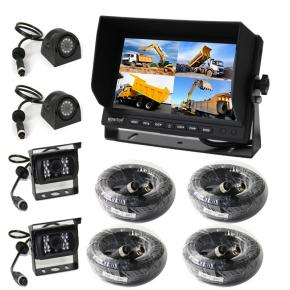 7 Inch Quad Dash Mount Reversing 4 Camera System