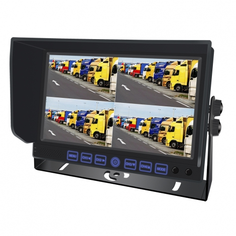 7-Inch Heavy Duty LCD Quad View Monitor