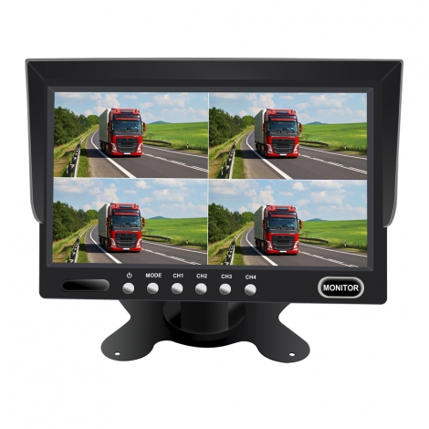 7inch Rear View Quad Monitor