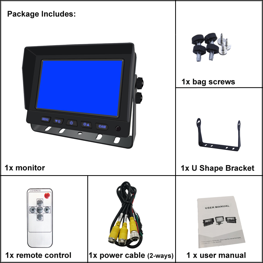 5 inch AHD 1080P Car Monitor with IPS Screen